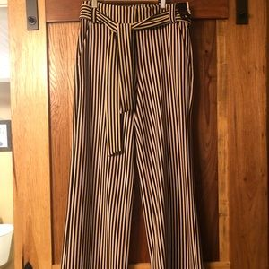 Striped Cotton Dress Pant